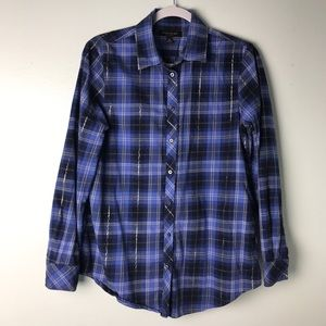 Banana Republic Dillon Blue Flannel Shirt